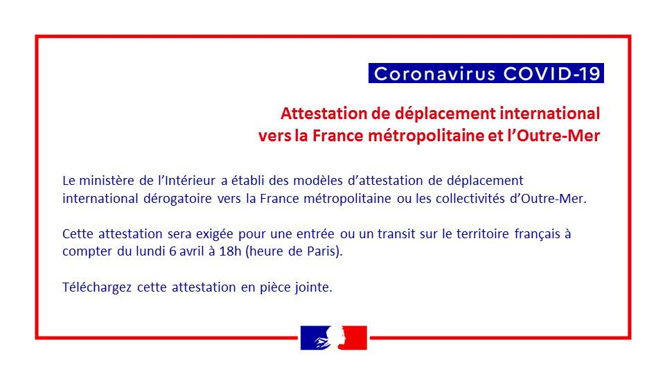 Covid 19 Attestation De Deplacement International La France En Belgique